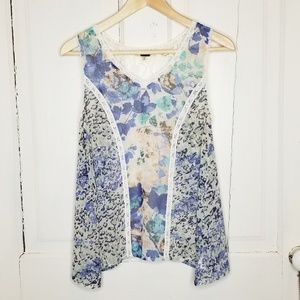 Miss Me Lace and Floral Blouse